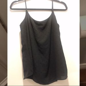 Black shimmery Bailey 44 top